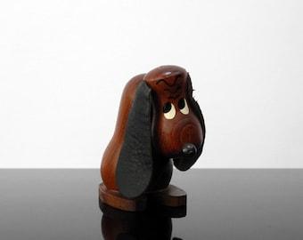 Little Teak dog / Vintage / Mid Century