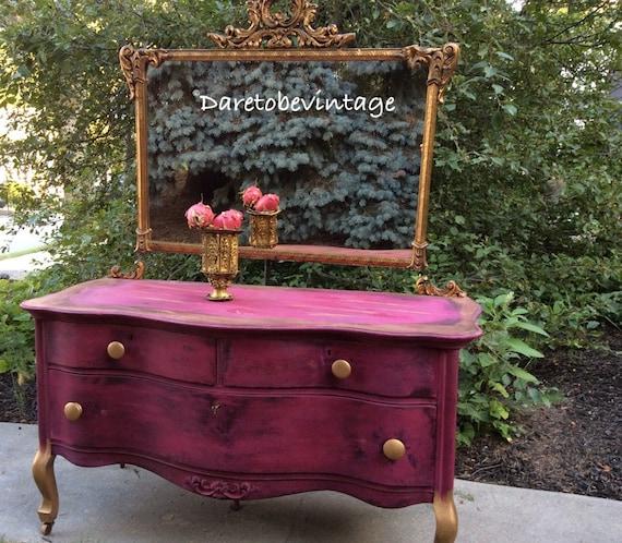 Items Similar To Sold Vintage Vanity Painted Vanity