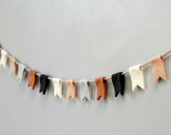 Felt Bunting Banner in Earth Tones. Modern Nursery Flag Garland. Southwestern Decor Wall Hanging. Made in America by OrdinaryMommy