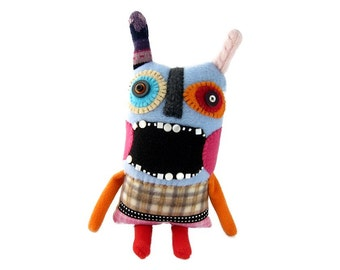 Prudence - a one of a kind screaming monster rag doll