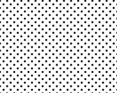 Black small dots on white 1/2 yard cotton lycra knit