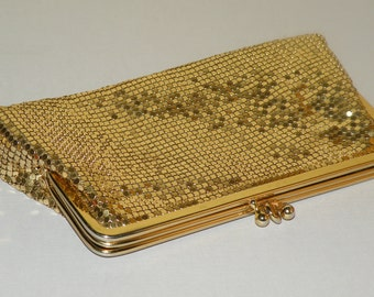 Whiting and Davis Gold Evening Clutch