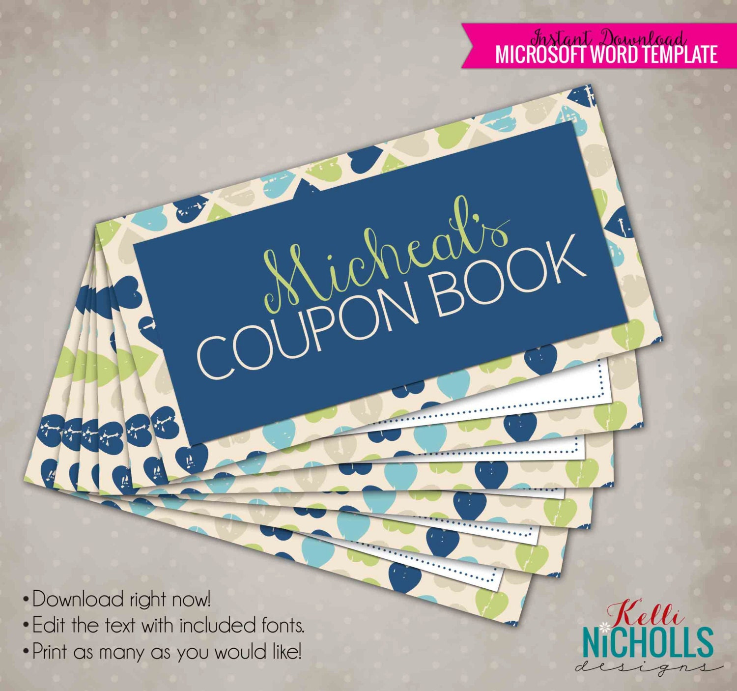 coupon book template for husband - printable valentine 39 s day custom coupon book gift for