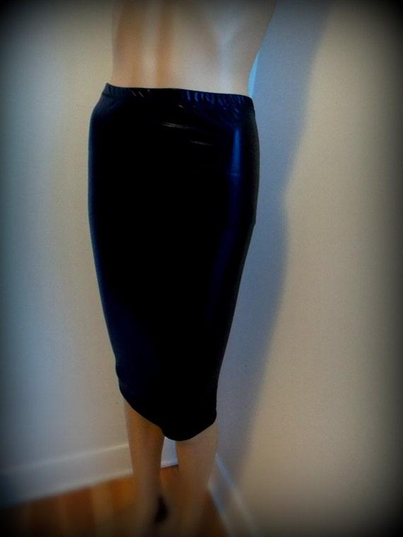 items similar to pencil skirt faux leather metallic