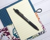 Mini Shopper - Notepad holder List taker - Fall Floral