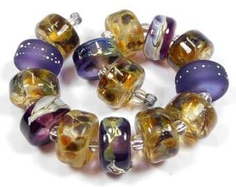 Quinlan Glass Sonoma Sunflowers Handmade Lampwork Glass Beads