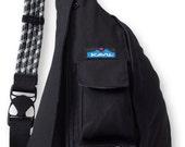 Monogrammed Kavu Rope Bags - Black - Great gift for College, Teens, Women, Outdoors Satchel Crossbody Tote