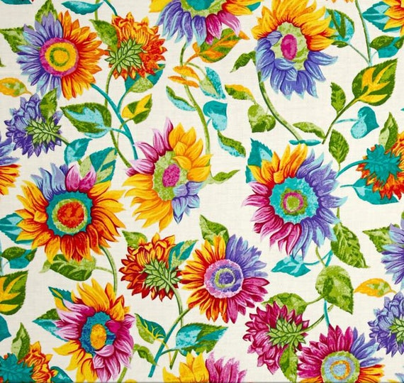 sunflower shower curtain bright floral shower curtain retro. Black Bedroom Furniture Sets. Home Design Ideas