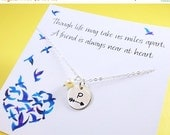 2-DAY 20% OFF SALE Graduation gift, friendship necklace Follow your arrow, initial necklace, High school graduate gift, Personalized Bridesm