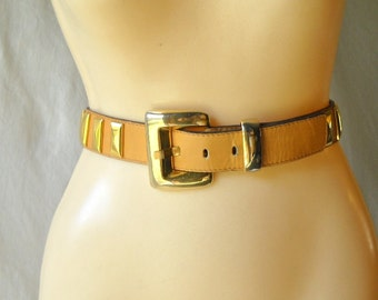 Vintage Belt Escada Belt Studded Leather Belt