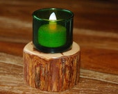 Cedar wood candle/votive/tea light stand - reversible