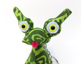 Cute Stocking Stuffer Toy for Boys, Cute Keychain, Alien Keychain, Monster Keychain by Adopt an Alien named Owen