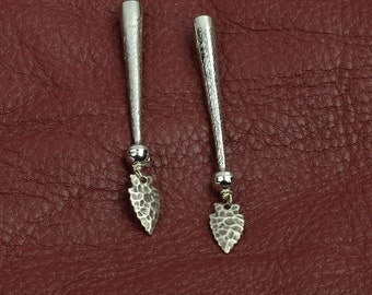 Bolo tip zinc cast arrowhead charms on  tip  ,  sold package of 2 each
