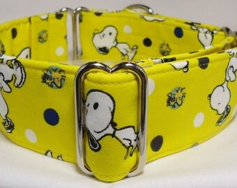 Snoopy and Woodstock Yellow Greyhound, Great Dane, Whippet, Galgo, Pit Bull, Dog, Sighthound, Martingale Collar