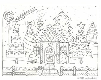 Items similar to Winter Wonderland  Coloring Page  PDF  Instant