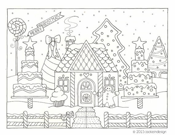 coloring pages winter scene-#14