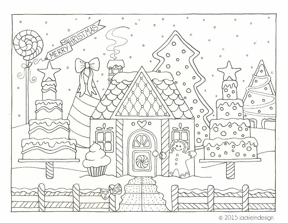 Items Similar To Gingerbread House Winter Scene