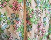 Vintage 60s Duster Dress Lounger Belted Flower Power