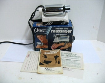 Vintage Oster Massager 126-11A in Box Swedish Style Body Massage Vibrator
