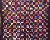 Black History Sale Joyful Journey 68 x 74 inch ethnic scrap quilt