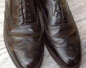 SALE/ Size 11 1/2 FLORSHEIM IMPERIALS Wingtips Black Leather Brogue Mens Shoes