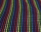 Handwoven Dishtowel - Stained Glass Rainbow