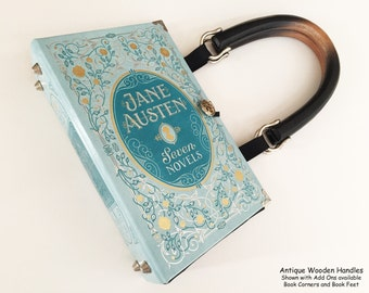 Jane Austen Book Purse - Jane Austen Book Cover Handbag - Jane Austen Gift - Jane Austen Book Cover Clutch - Bookish Bridal Gift
