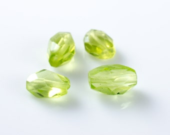 Faceted Peridot Oval Briolettes