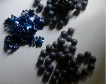 Destash Broken Blue Bead Necklaces Crafting Upcycle