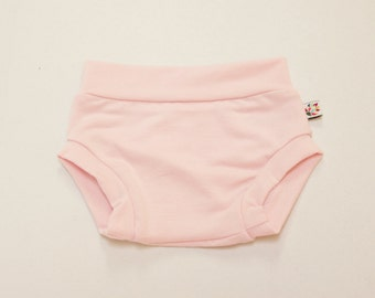 NEW! Light Pink Bamboo Baby Bloomer Shorties Unisex