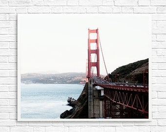 BUY 2 GET 1 FREE - San Francisco Photo Art, Fpoe, Golden Gate Bridge, Ocean Photo, San Francisco Print, Office Decor - Evening in San Fran