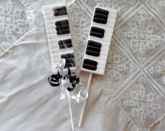 Chocolate Piano Keyboard Lollipops