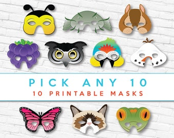 Pick 10 Animal Masks   DISCOUNTED   Printable Masks   Animal Masks