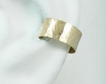 Ear Cuff Gold Non-pierced Cartilage Wrap Earring Fake Conch No Piercing Cuff Earring Simple Earcuff Earring Faux Pierced Hammered E114KHM