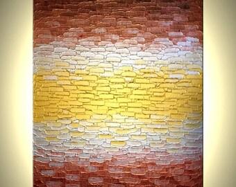 Original Metallic Abstract Painting, Modern Palette Knife Art Painting by Lafferty - 24x36