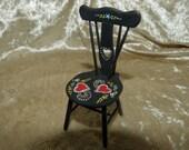 Dollhouse Miniature chair in 12th scale - artisan furniture unique original piece