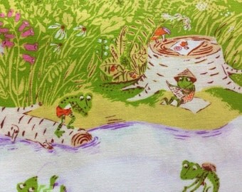 SALE. Heather Ross Briar Rose Frog Pond Lilac