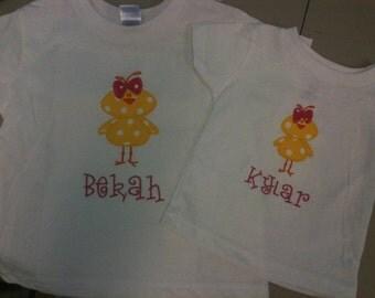 Easter Chick Monogrammed Shirt
