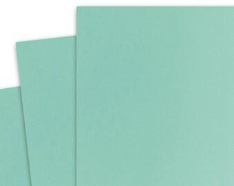 Basis AQUA 80lb Card Stock 8.5x11 - 25 sheets