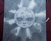 Full Moon - Original Drawing