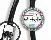 ON SALE - PERSONALIZED Nurse (Neon) Stethoscope Id Tag - Gifts for Nurses, Student Nurse Gift, Graduation Gift, Stethoscope Accessories