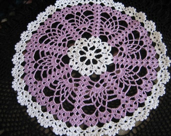 New, hand made, crochet doily, white, wood violet,ready to ship