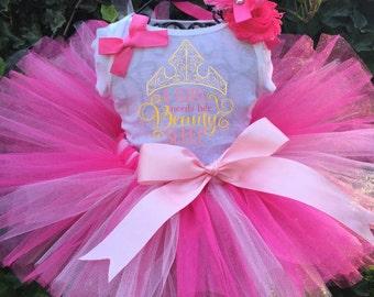 Sleeping Beauty Tutu Set - Sleeping Beauty Birthday Outfit - Sleeping Beauty Dress