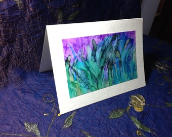 "Blank Card 4"" x 6"" Print of Original Alcohol Ink Painting Suitable for Framing"
