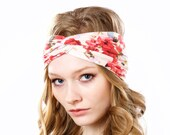 FREE SHIPPING- Turban Headband Women- Turband- Headwrap- Hair Accessory- Rose Headband- Gift For Her- Boho- Floral Headband- Women's Gift