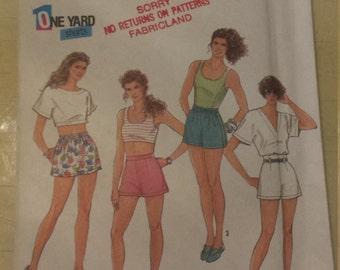 Shorts Sewing Pattern Simplicity 7294 Size 8-14 UNCUT