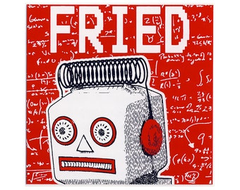 FRIED sticker
