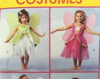 Fairy Costume Pattern, McCall's Costumes Pattern M4887 Sizes 6-7-8 Children's And Girl's Fairies Costumes