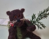 Gunther the  Felted Wool Groundhog