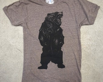 Bear Heather Brown T Shirt